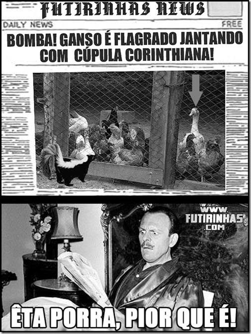 GANSO-JANTANDO-CUPULA-CORINTHIANA-FLAGRA-BOMBA-NO-CORINTHIANS-GALINHA-GAMBA-PEIXE-SANTOS-SANTISTA-FUTIRINHAS