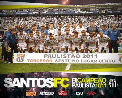 SANTOS FC BI CAMPEÃO PAULISTA 2011