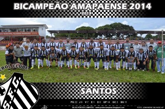 poster_santos_bicampeao_amapaense_2014