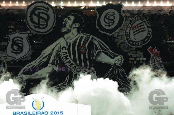 Festa de 105 anos do Corinthians antes da partida contra o Fluminense, válida pela vigésima segunda rodada do Campeonato Brasileiro Série A 2015, em São Paulo, 02/09/2015, Foto: Djalma Vassão/Gazeta Press